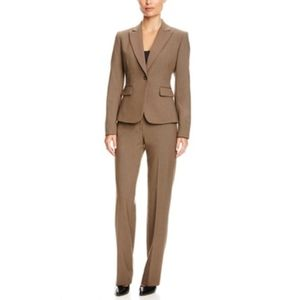 Tahari taupe women's suit set blazer and pants